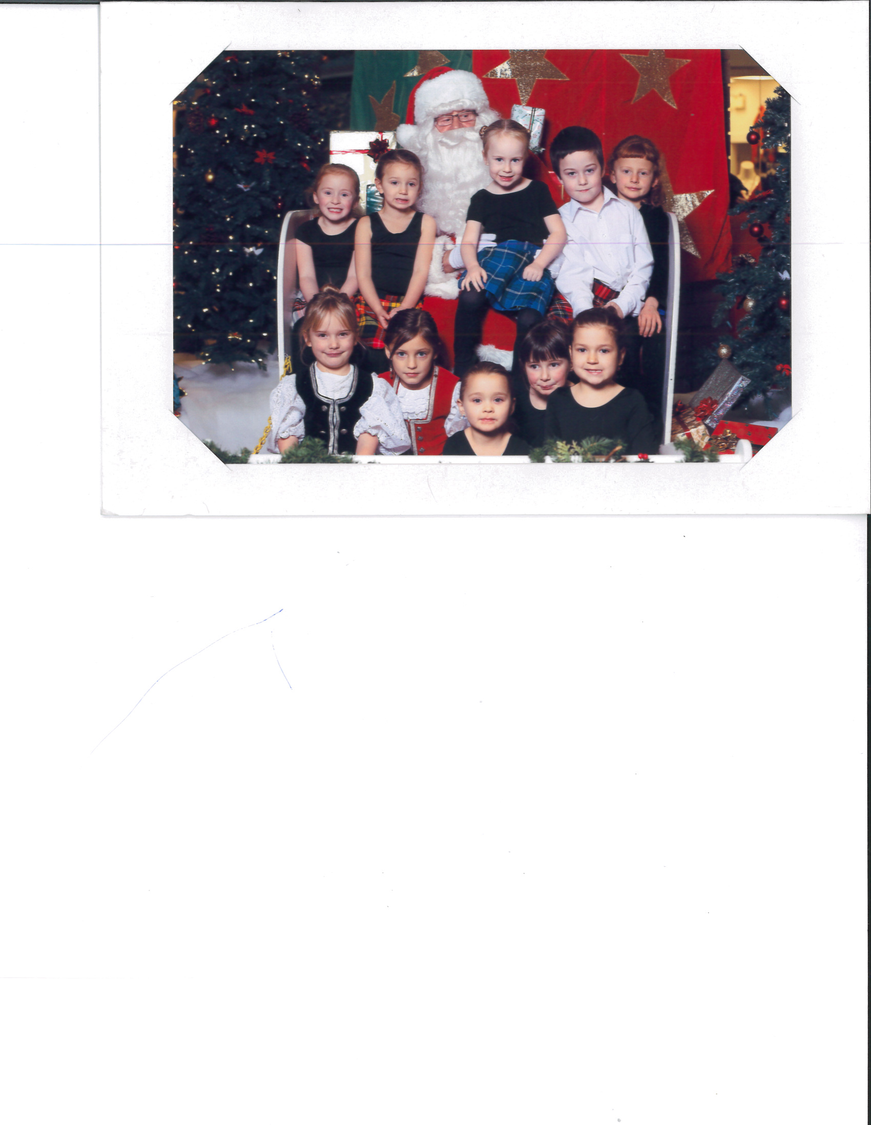 Primary Dancers with Santa 2012